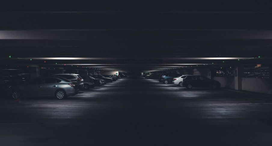 Monitored underground parking spaces